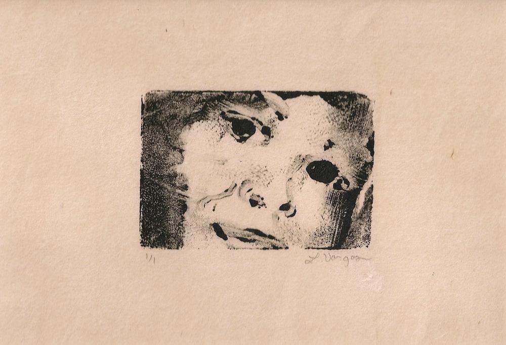 """Child, 3x2"""", monotype, 2010"""