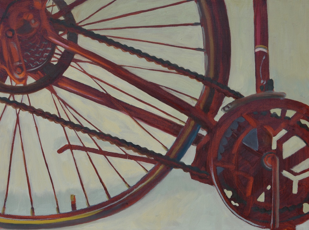 "Red Still Life, 24x17"", oil on canvas, 2007"