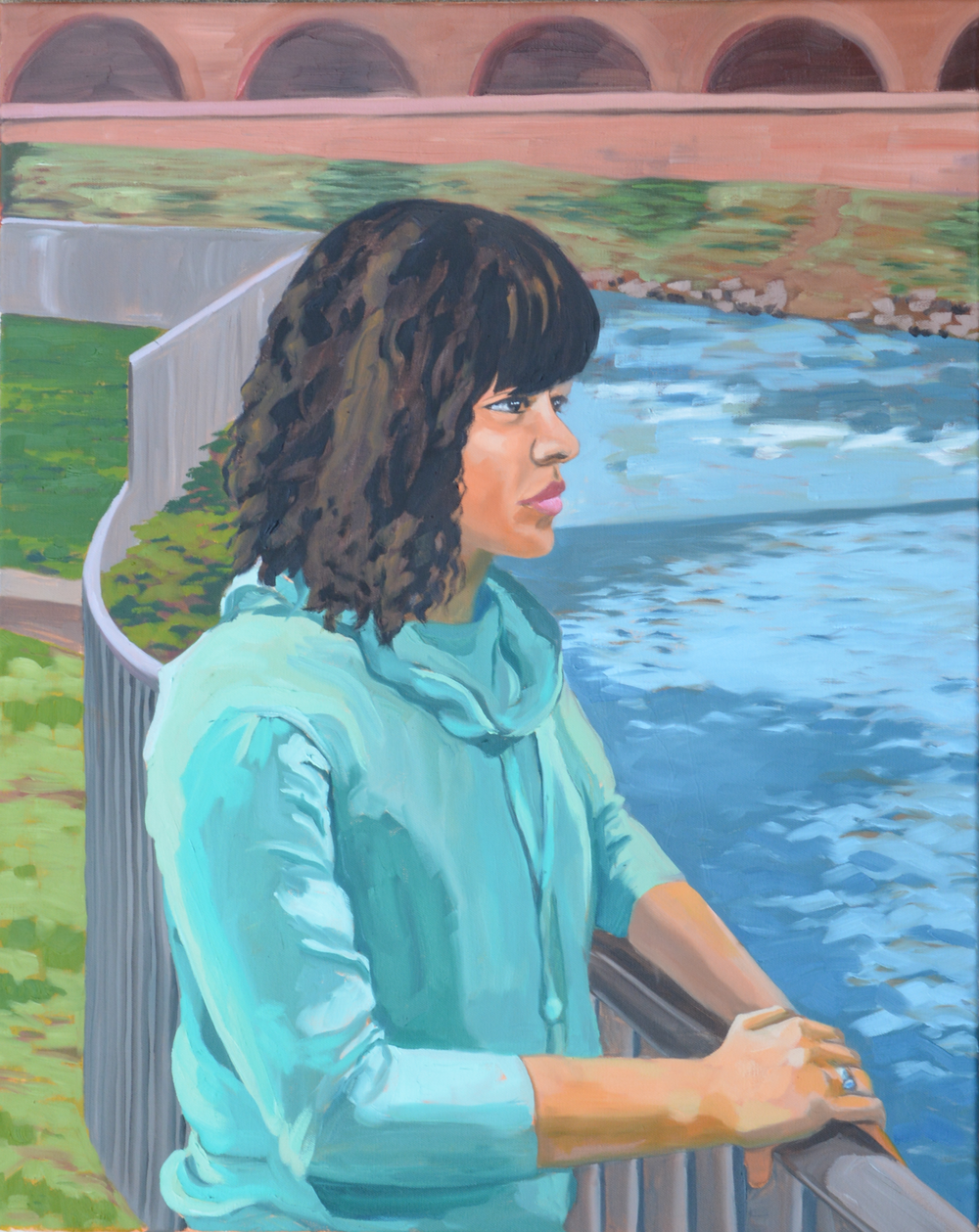 """Untitled (Thailee), 24x30"""", oil on canvas, 2016"""