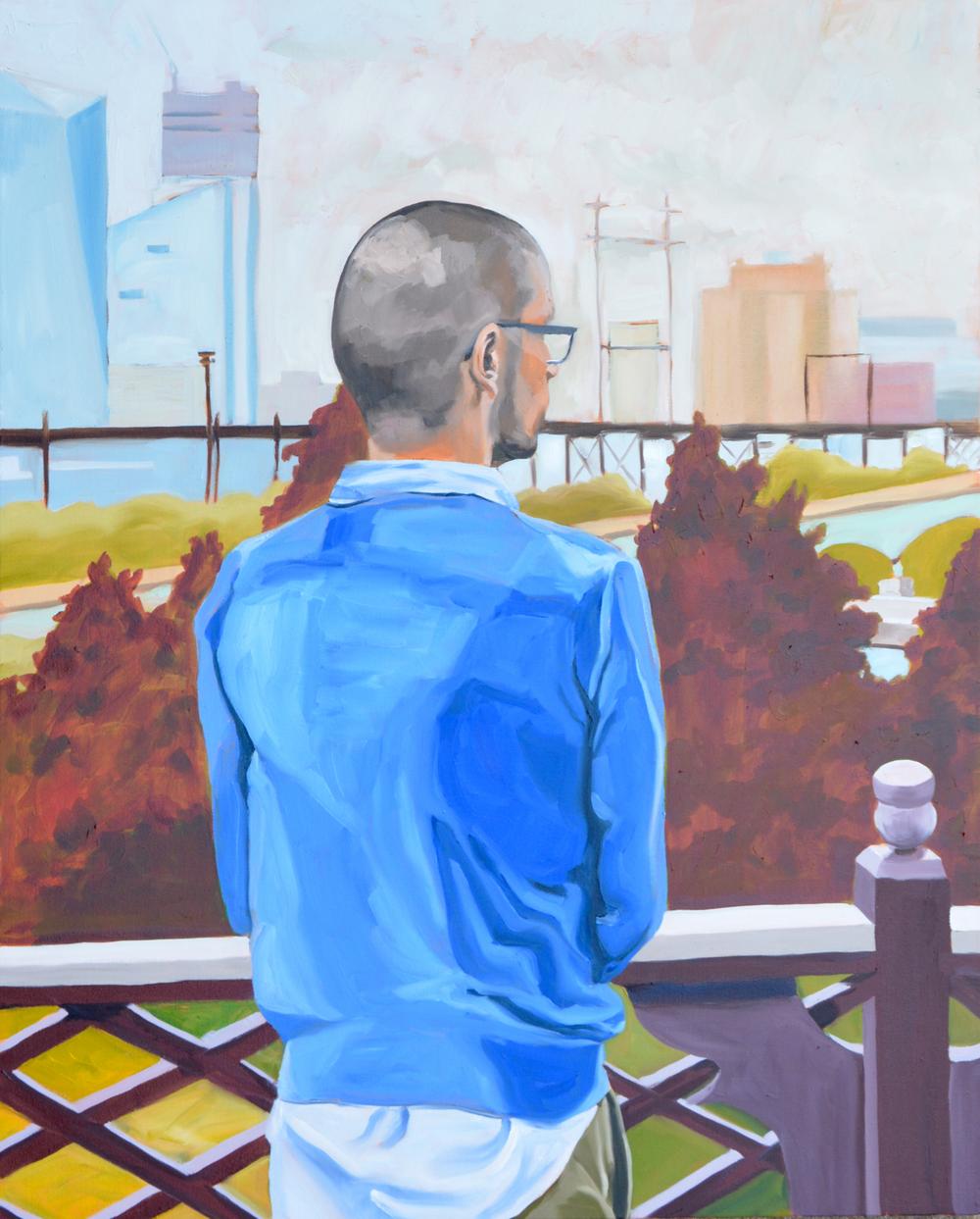"Untitled (Roberto), 24x30"", oil on canvas, 2016"