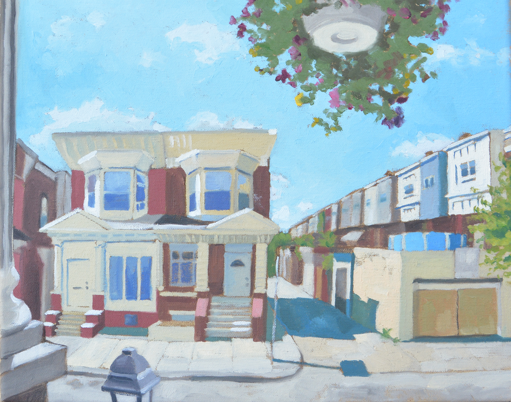 """The Block, 11""""x14"""", oil on canvas, 2014"""