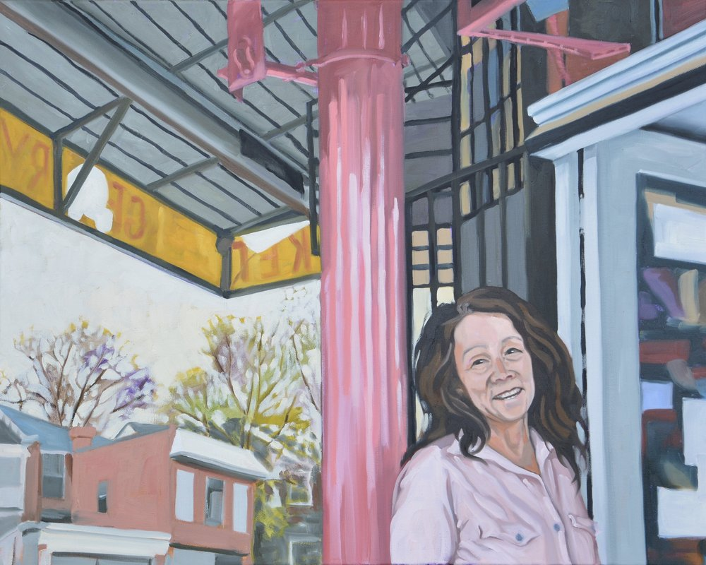 """Good Neighbors (Maria), 30x24"""", oil on canvas, 2017"""