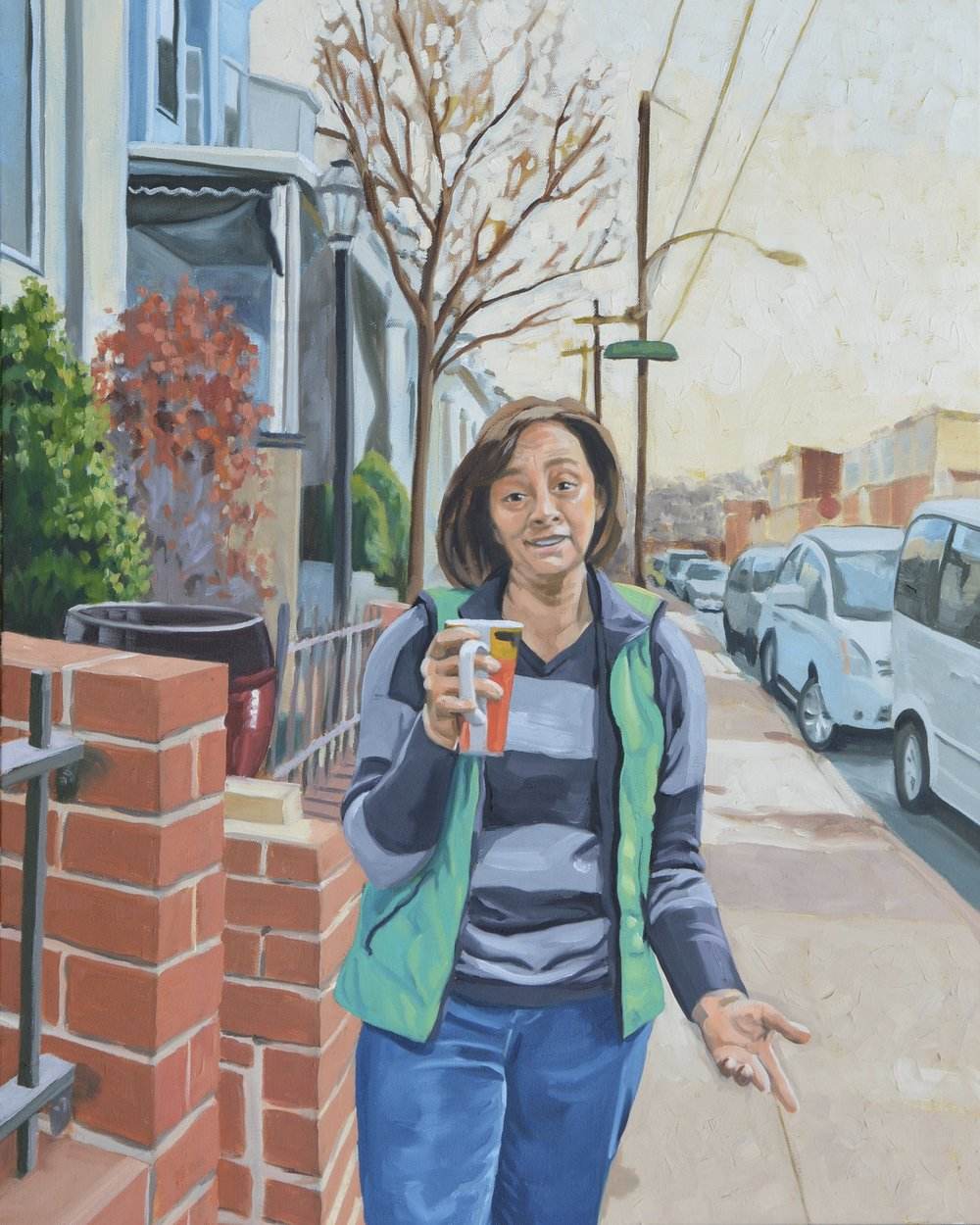 "Good Neighbors (Susan), 24x30"", oil on canvas, 2017"