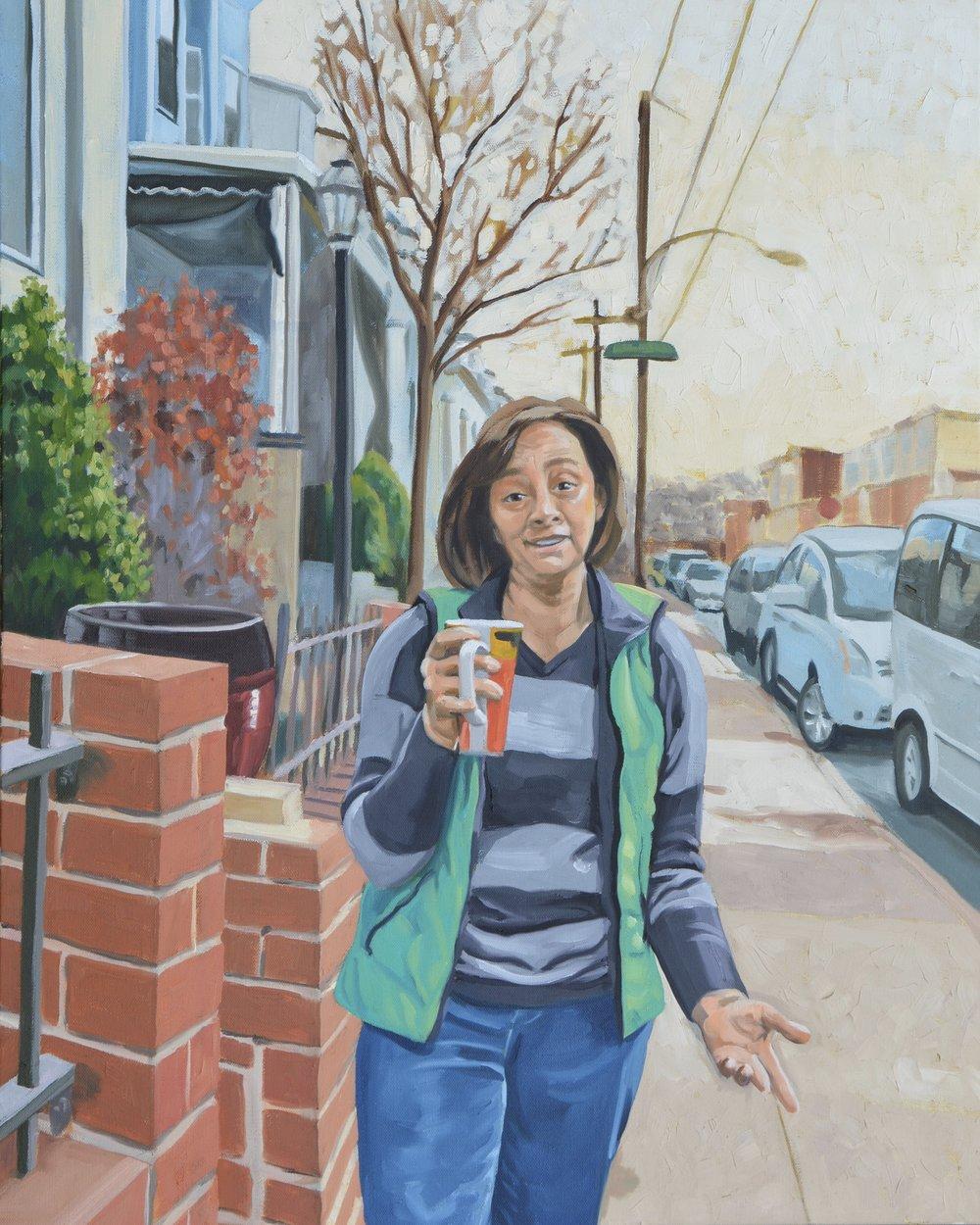 """Good Neighbors (Susan), 24x30"""", oil on canvas, 2017"""