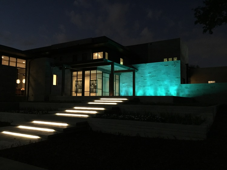 Dallas landscape lighting private estate