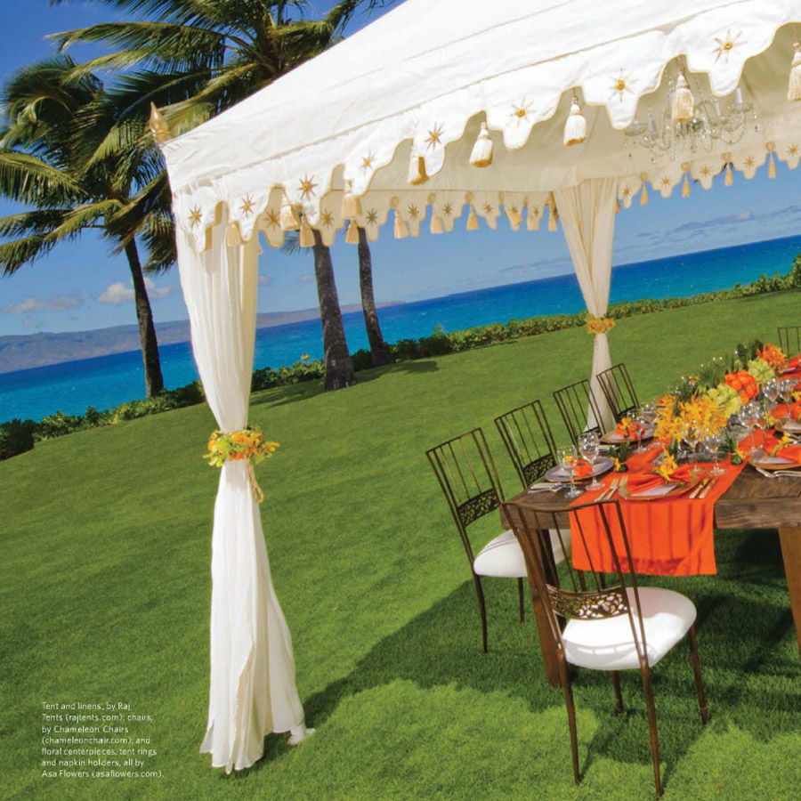 Ritz Carlton Weddings Cover Raj Tents Feature Jan-June 2012