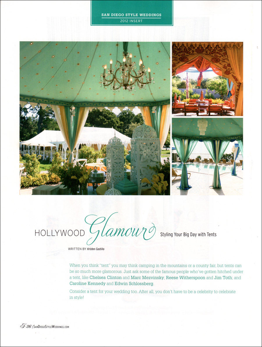 San Diego Style Weddings Raj Tents Feature May 2012