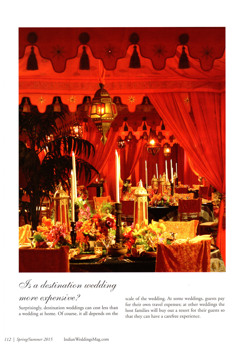 Raj Tents Destination Weddings Indian Wedding Magazine