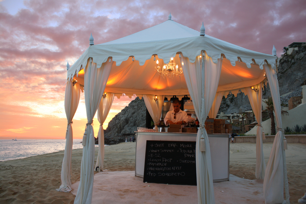 The Raj Tents collection is available for destination weddings