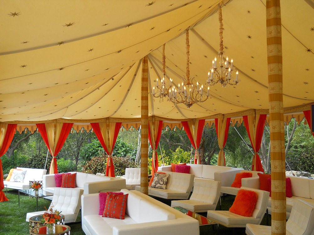 raj-tents-maharaja-honeyglow-spicy-orange-lounge.jpg & Raj Tents u2014 Luxury Tent Rentals Los Angeles u2014 Maharaja - Pole tent ...