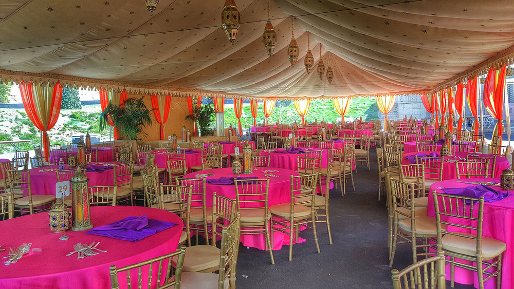 Moroccan and Indian Themed tents