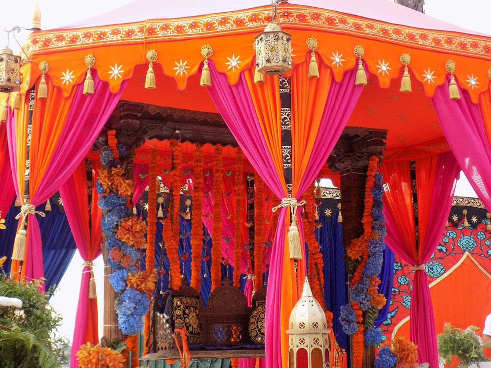 Raj Tents Indian Theme Authentic Colorful And Opulent