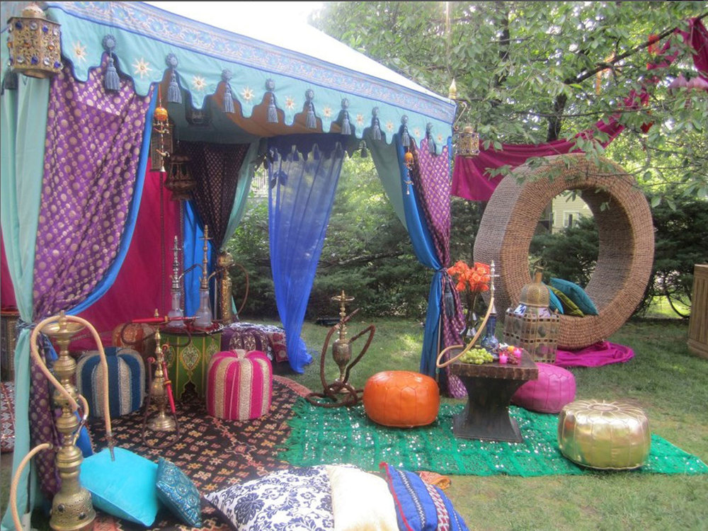 Raj tents luxury tent rentals los angeles moroccan for Backyard decoration