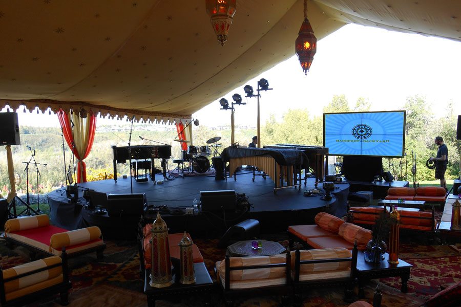 Sarah McLachlan Music Foundation  Raj Tents Themed Luxury Tent Stage Edmonton 2013.jpg