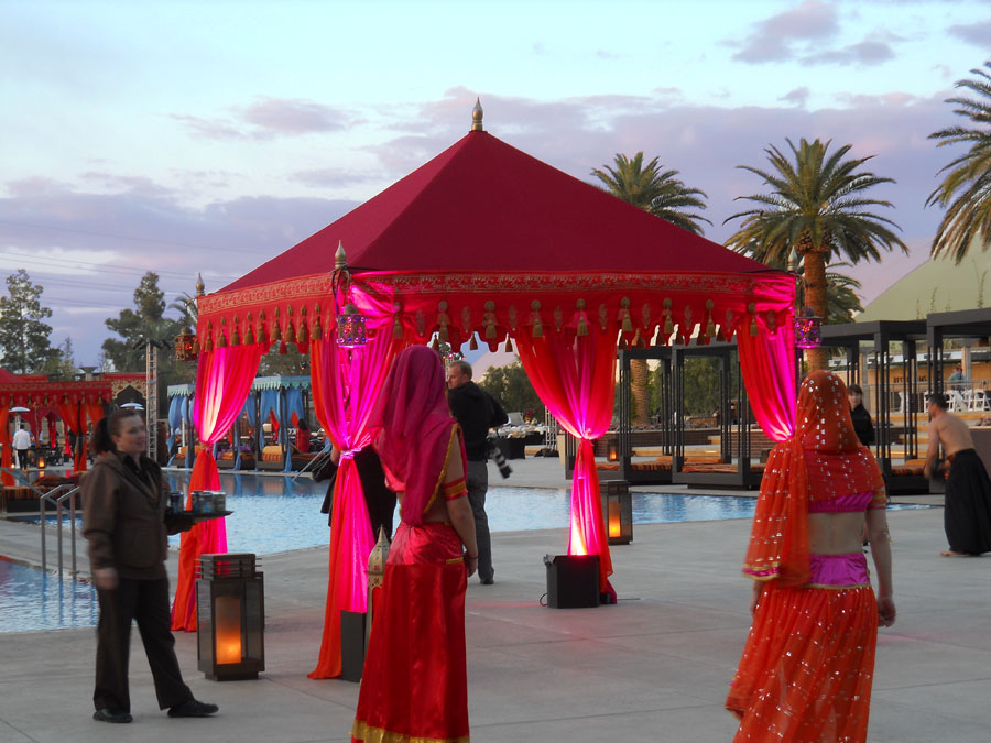 Red and Pink lit entrance to party pergola 2.jpg