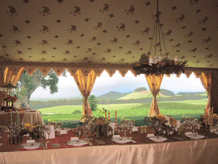 Raj Tents Destination Weddings Grassy Dining Overlook