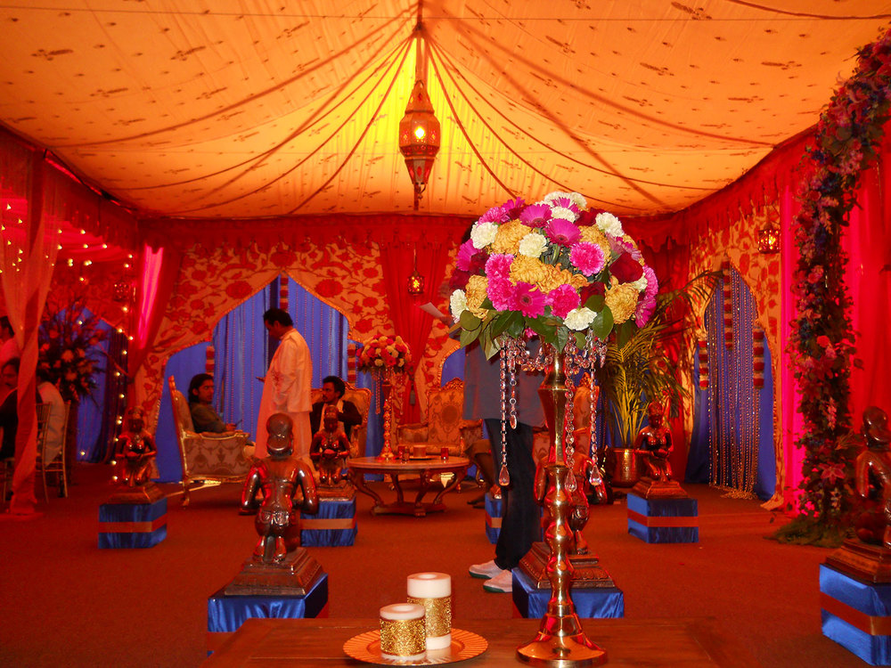 Raj tents luxury tent rentals los angeles indian for Home decor ideas for indian wedding