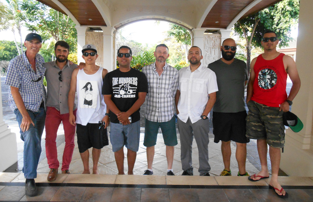 The Raj Tents destination event team in Mauritius 2015