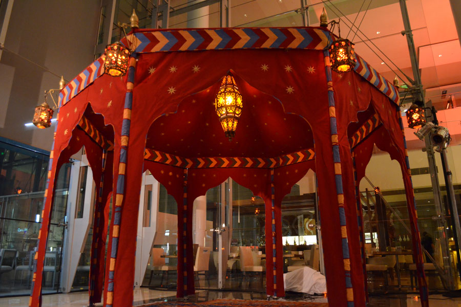 Grand Ottoman Pavilion with ajmer center lamp and hex jewels.jpg