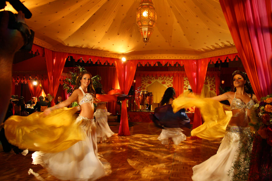 Raj Tents Dance Pavilion Belly Dancers Moroccan Ballroom Transformation David Tutera My Fair Wedding.jpg