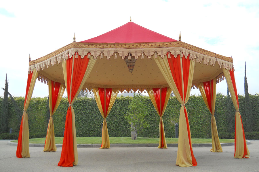 Raj Tent Luxury Grand Pavilion Indian Wedding Tent  Red and Orange.jpg