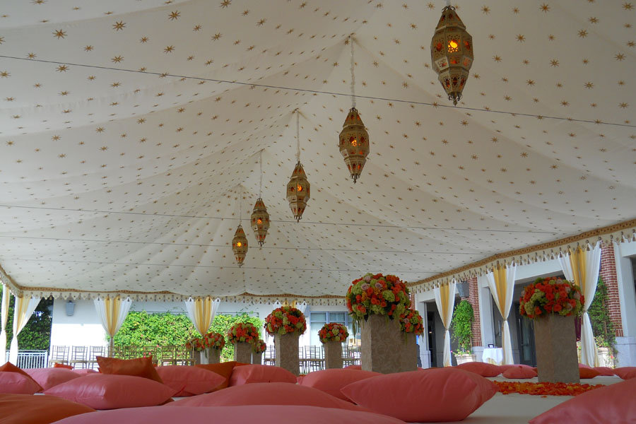 Raj Tents luxury Indian Wedding Ceremony Tent pink and cream.jpg