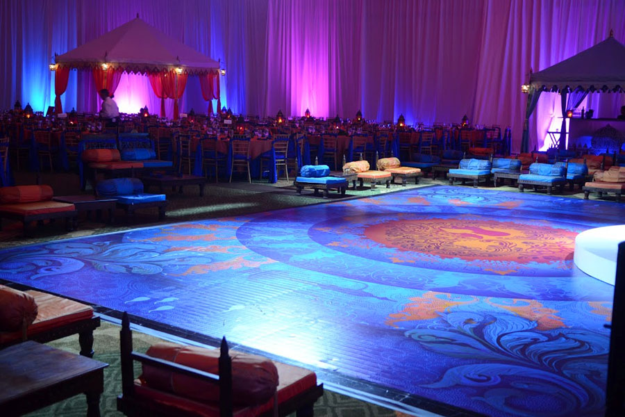 Raj Tents Honolulu Indian Wedding Dance Floor Lounge.JPG