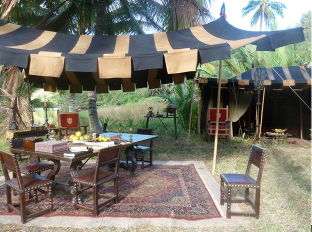 Raj Tents Pirates of the Caribbean Spanish camp set tents1.jpg