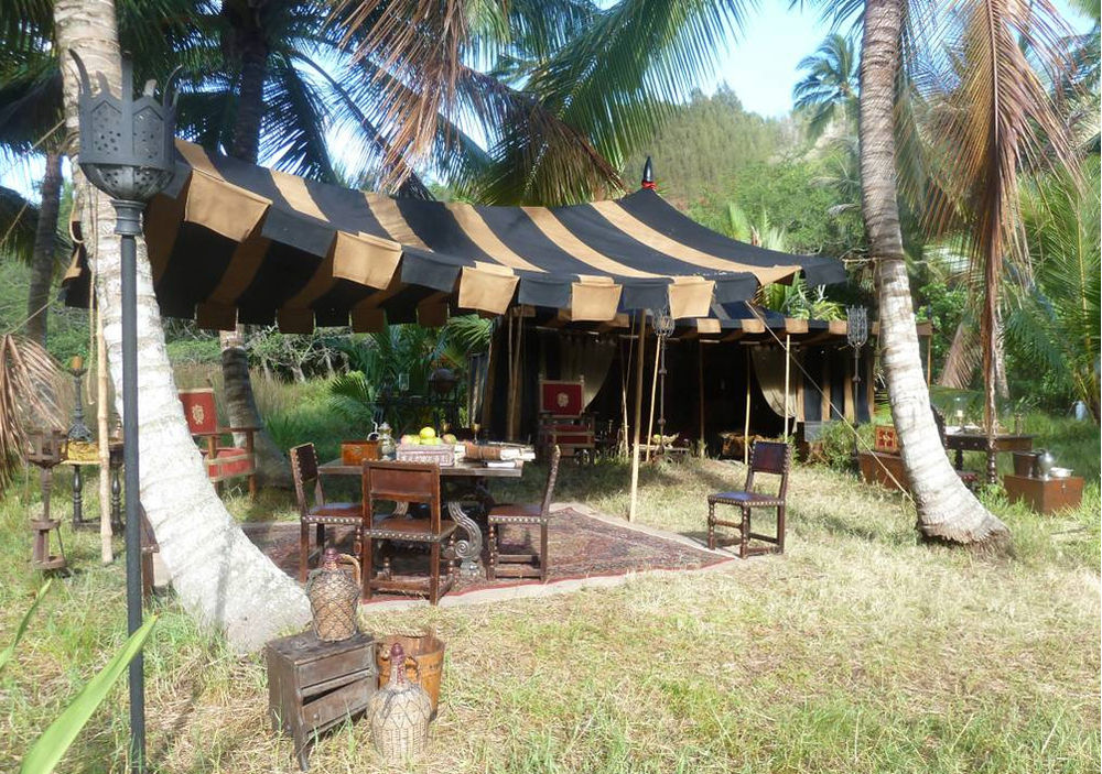Raj Tents Pirates of the Caribbean Spanish camp set tents2.jpg