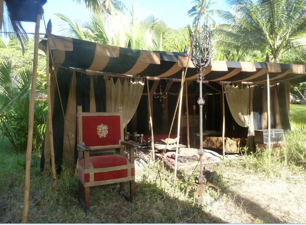Raj Tents Pirates of the Caribbean Spanish camp set tents5.jpg