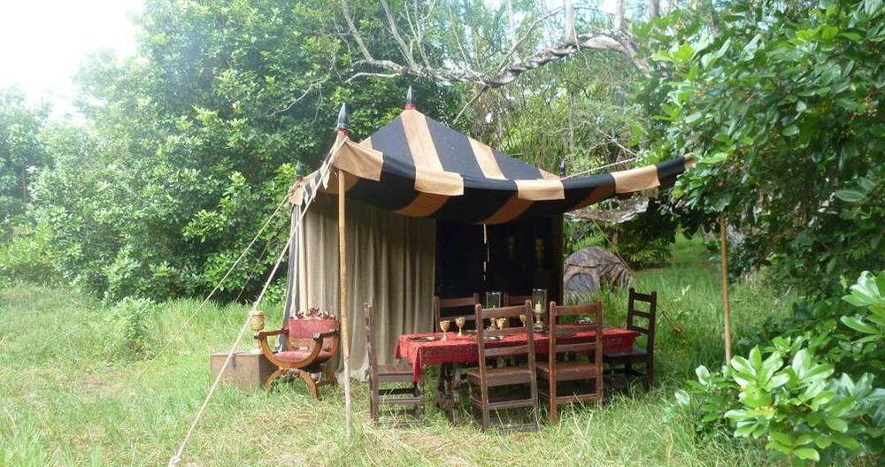 Raj Tents Pirates of the Caribbean Spanish camp set tents7.jpg