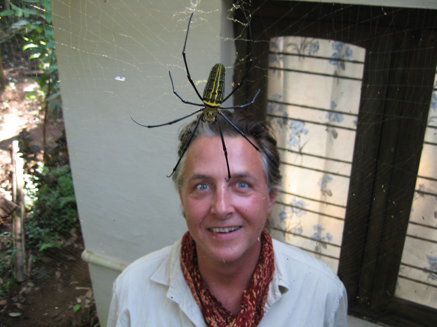 Dominic with a  Giant Wood Spider (Nephila Maculata).jpg