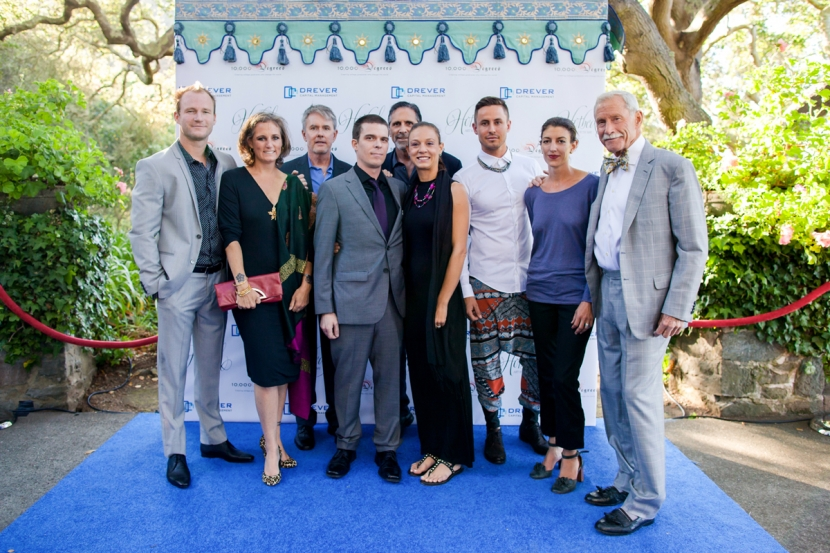 The Drever Family Foundation in front of Raj Tents decor at the 2015 Hotbed