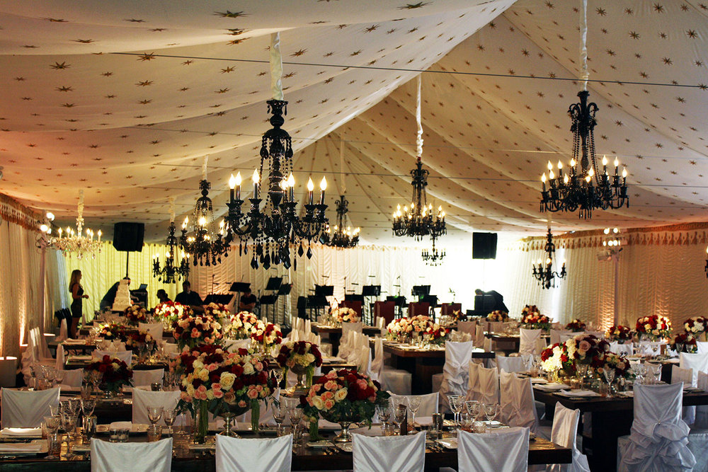 Raj Tents Luxury Tent Rentals Los Angeles Black White Theme