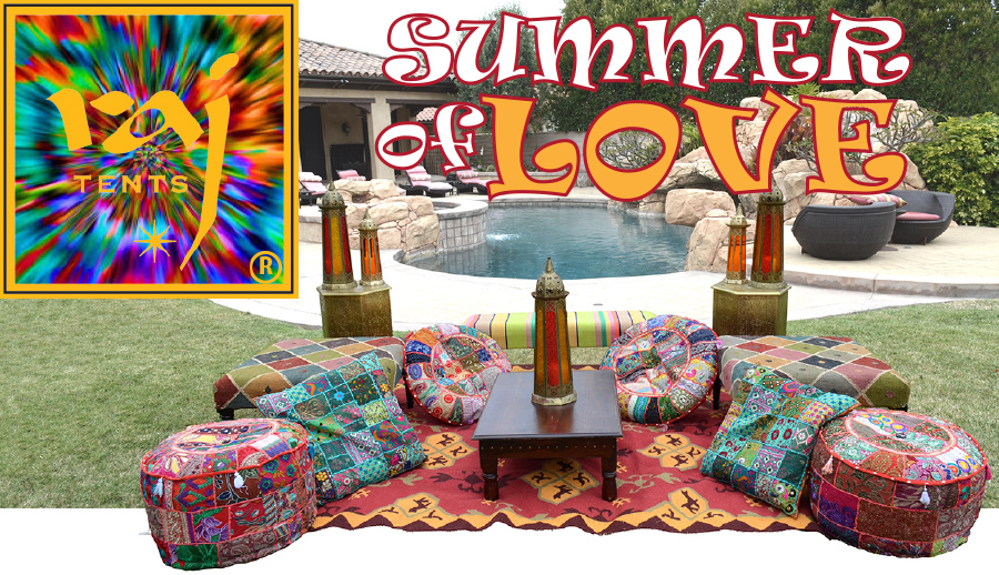 Boho Chic Raj Tents Summer of Love lounge