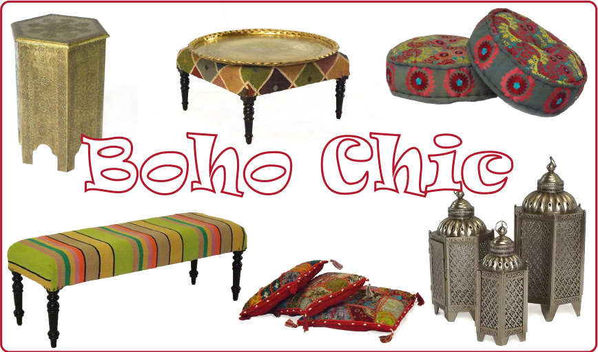 Raj Tents Boho Chic lounge furniture