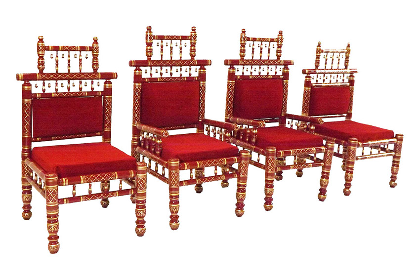 Raj Tents Indian Wedding Throne Red side.JPG