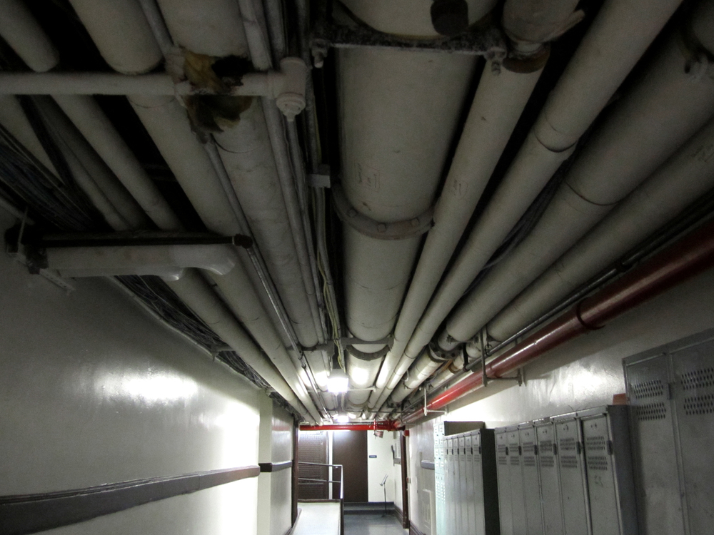 "The basement of Columbia University. ""Red Pipe"""