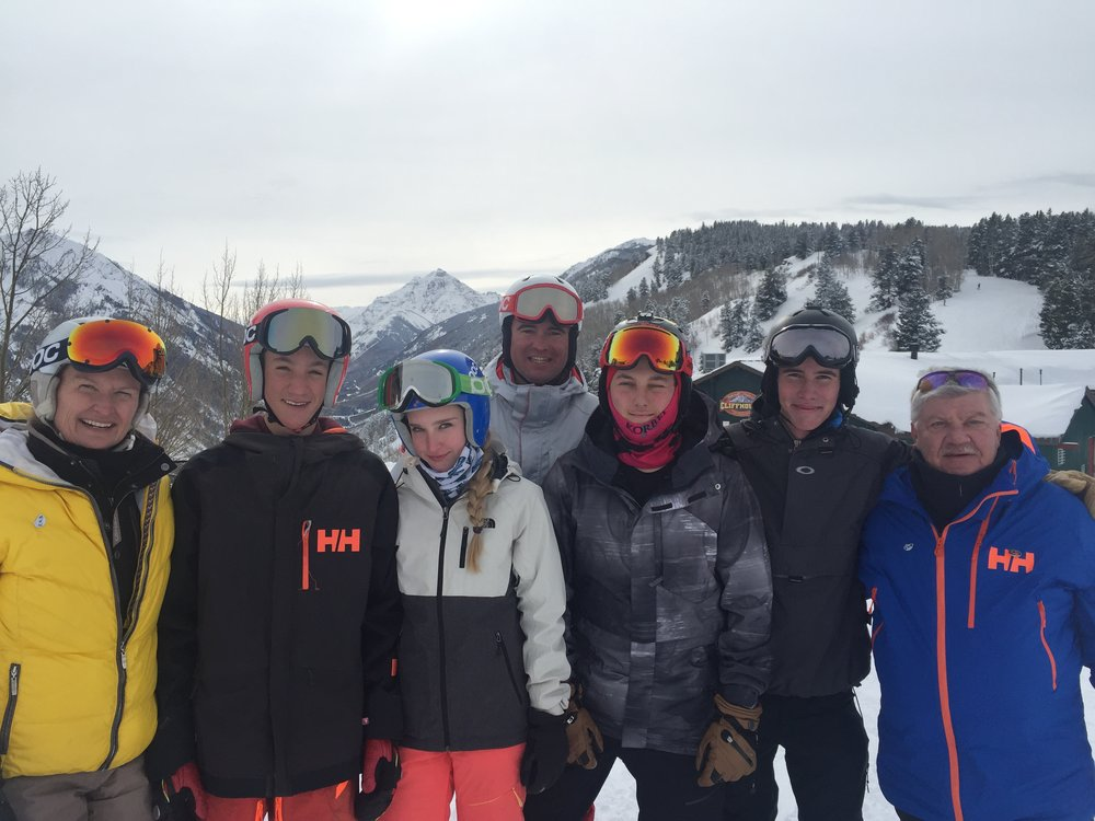 Maddie Severson, Alex Ilik, Emma Ellis, Brendan Doran, Eli Fuller, Bear Mathews and Mark Severson SPRING 2017