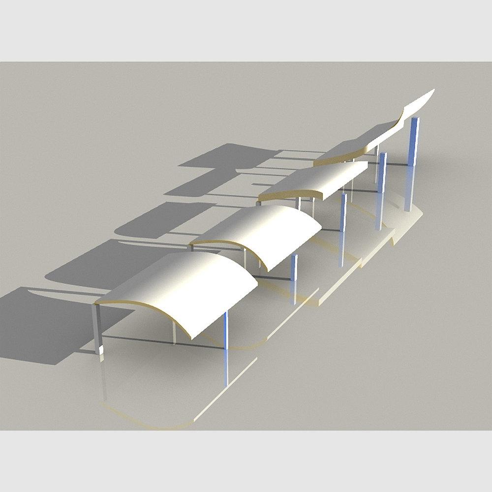 Parametric digital model.Rhino & Grasshopper.2014