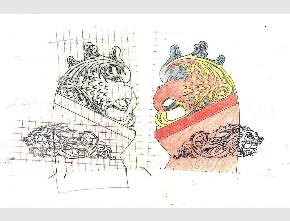 Set design.Pen & crayon.1980