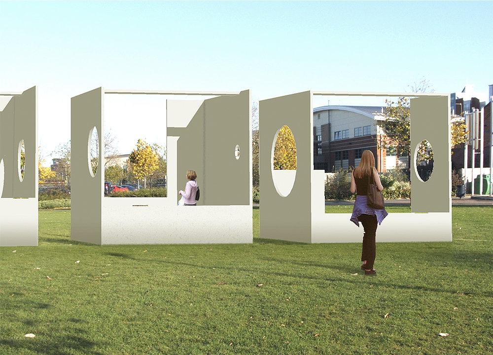 Installation from digital model.Mixed media, 2009