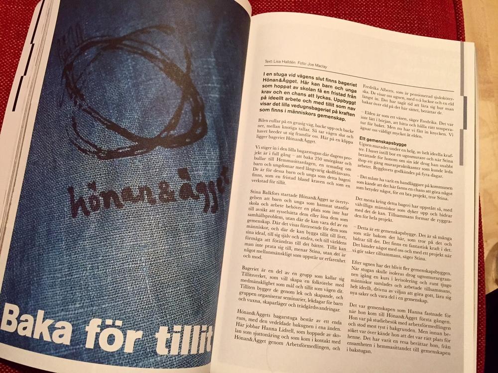 Baka för tillit - artikel om Tillitsverkets ungdomsbakeri Hönan&Ägget, good news magazine