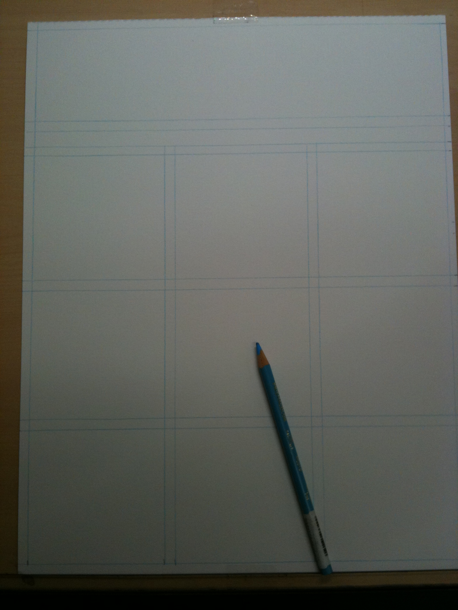 Initial page with blue line