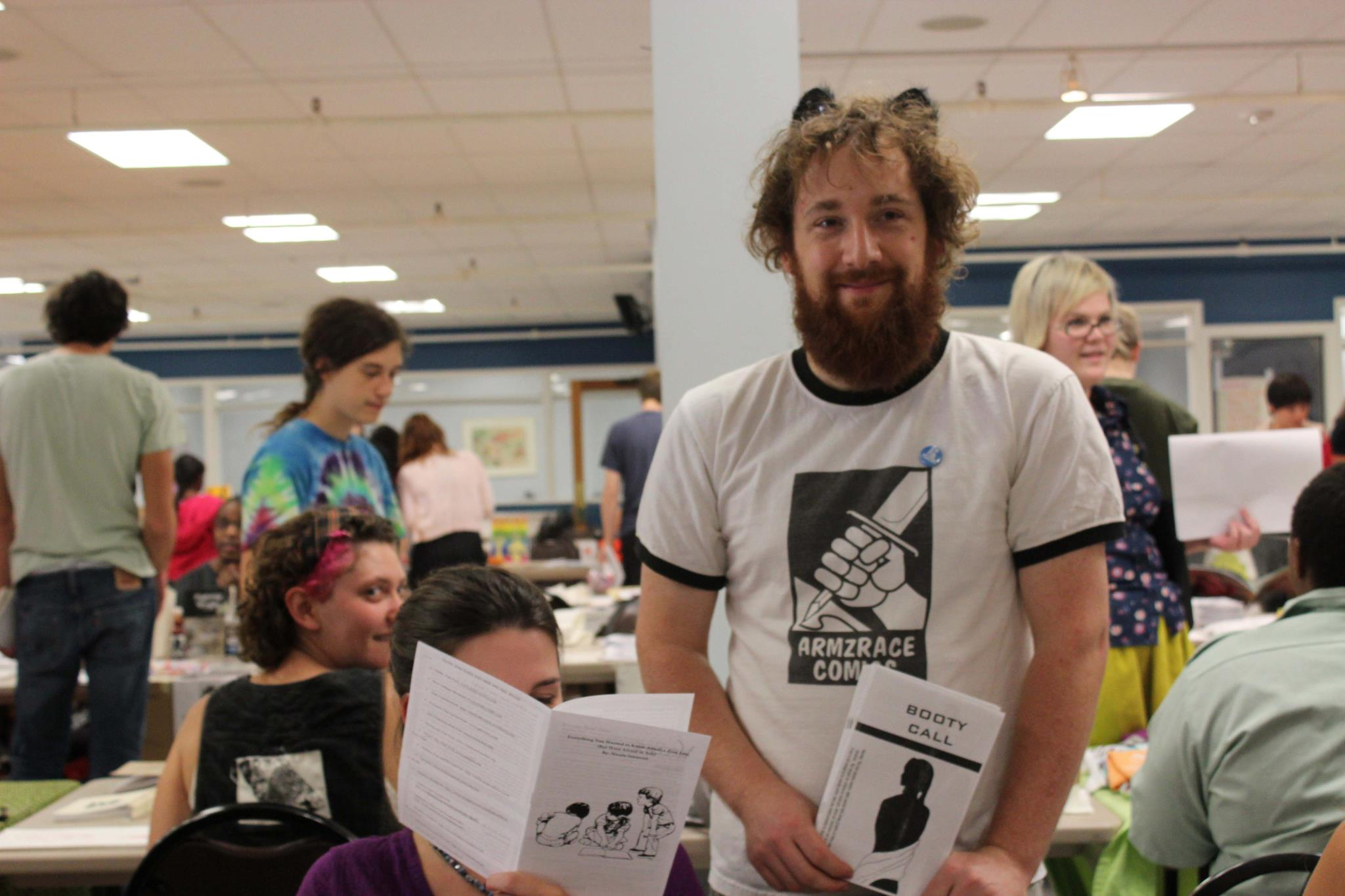 Tabling at the 2011 Richmond Zine Fest