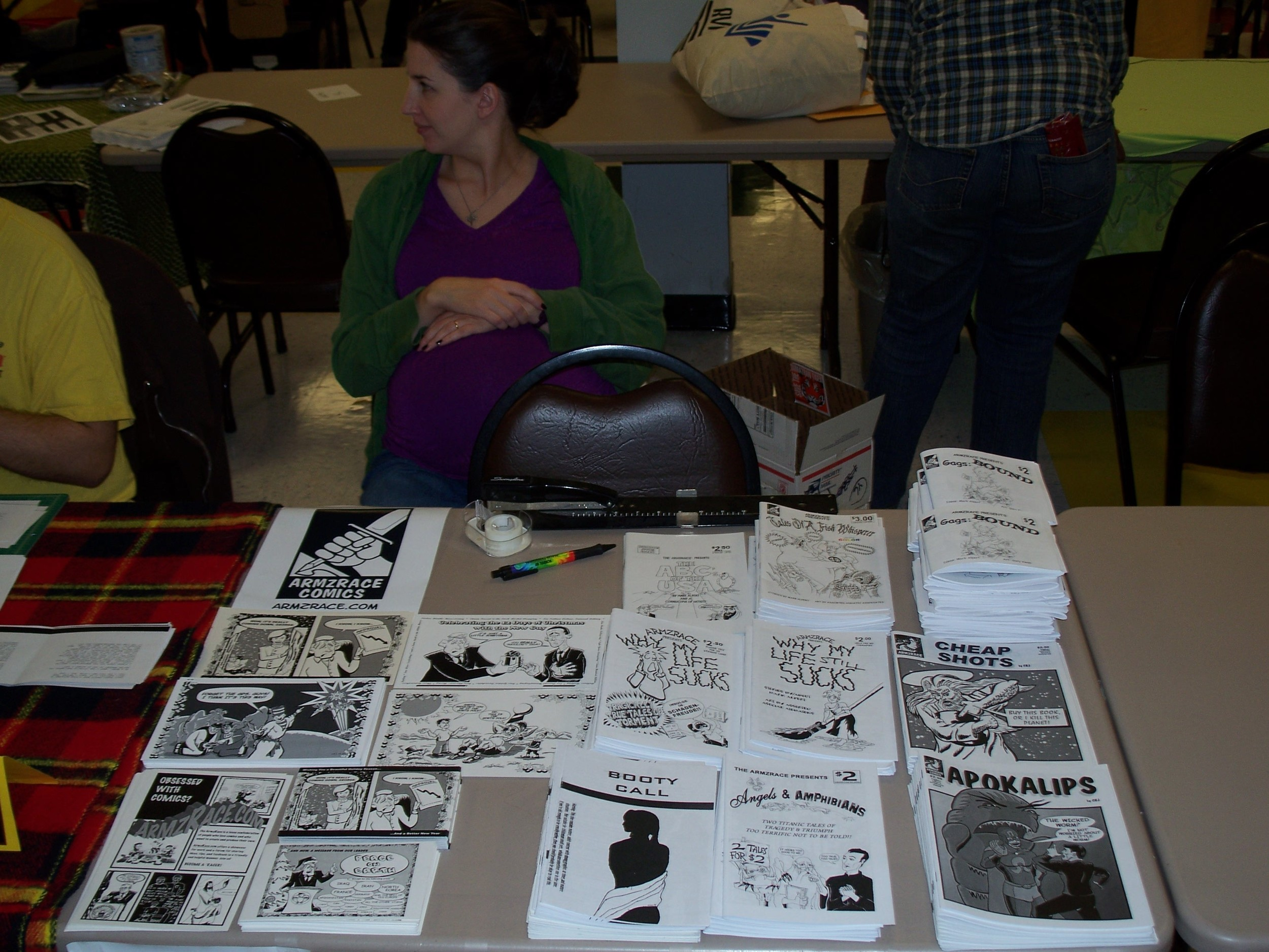 The ArmzRace Comics on display.