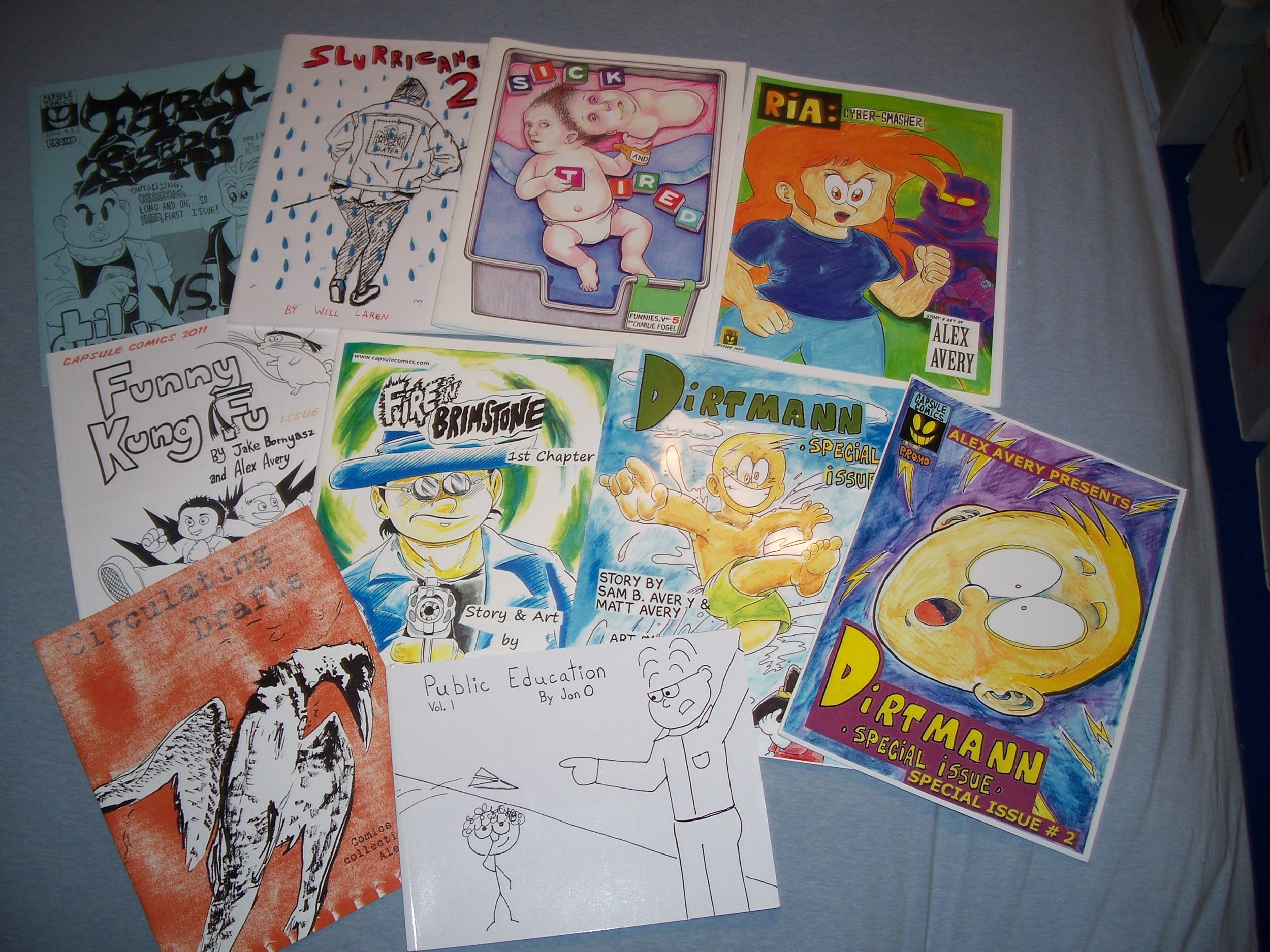 Some over-sized comix