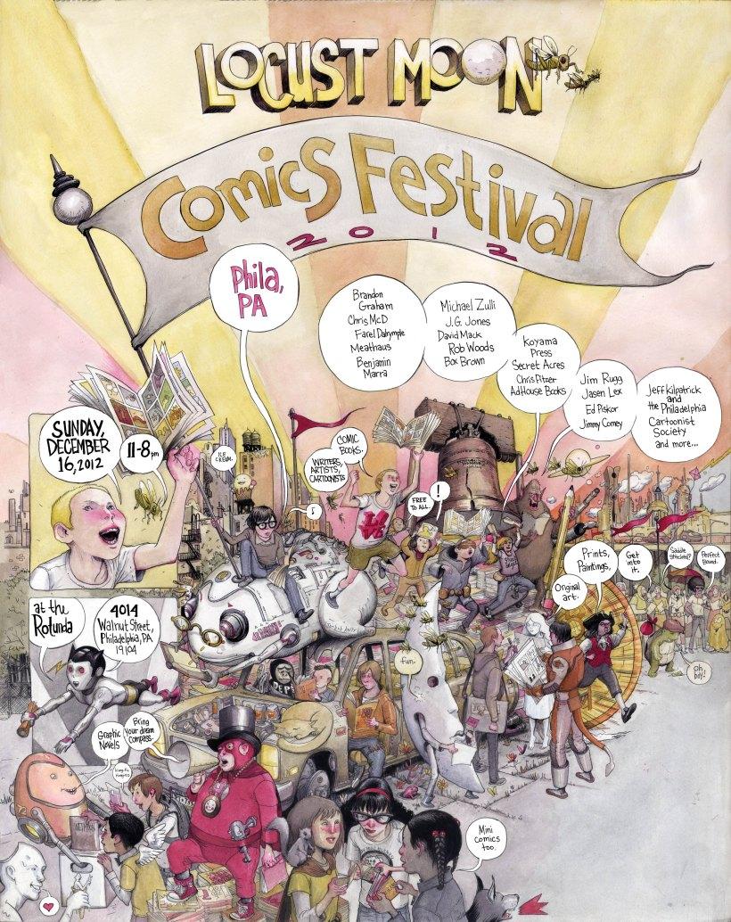 Locust Moon Comics Festival 2012 Poster