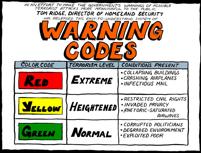 warning codes