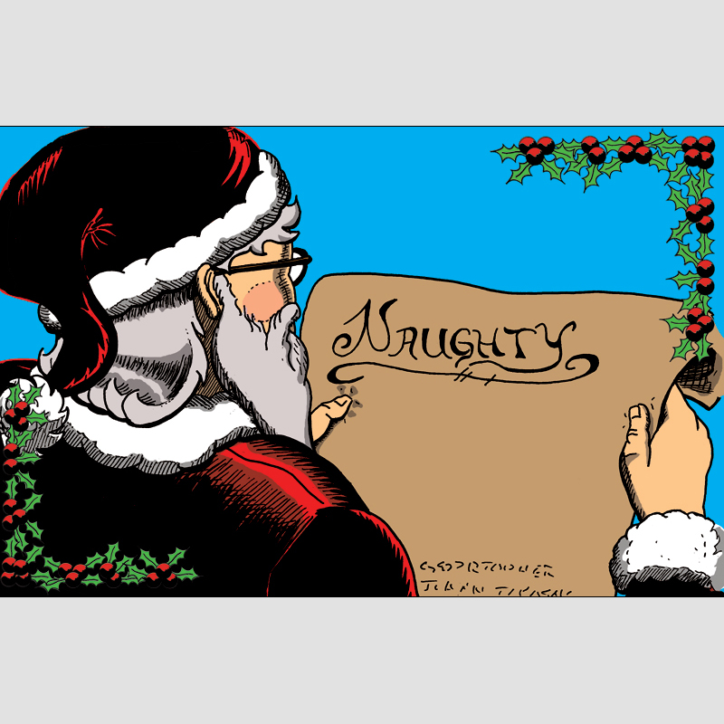Christmas Cards: Naughty — ArmzRace Comics